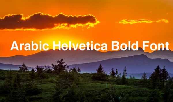 Free Helvetica Bold Font
