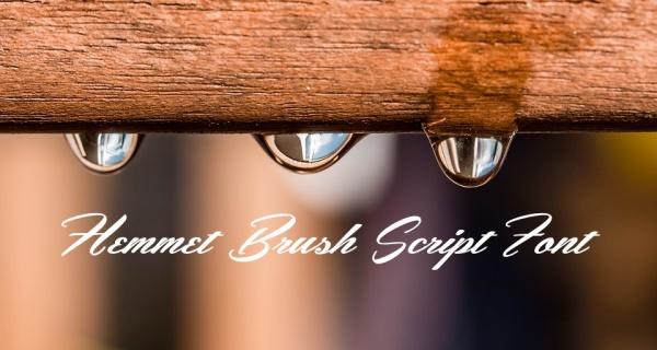 Free Hemmet Brush Script Font