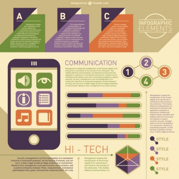 Free Hi- Tech Infographic Template