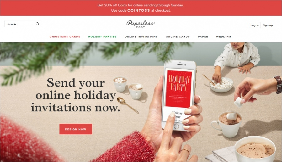 Free Holiday Online Invitations