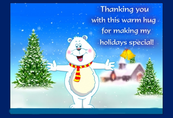 Free Holiday Thank You Ecard