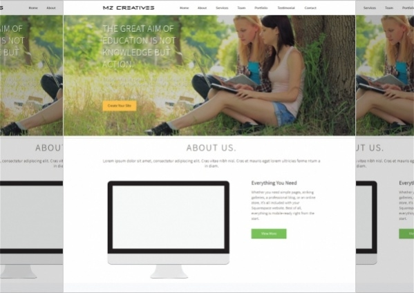 Free Html Website Template