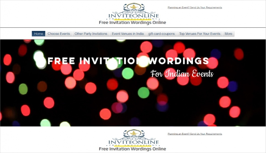 Free Invitation Wordings Online