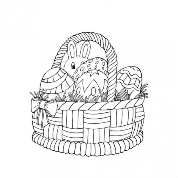 Free Kid's Easter Coloring Page