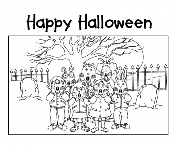 Free Kids Halloween Coloring Page