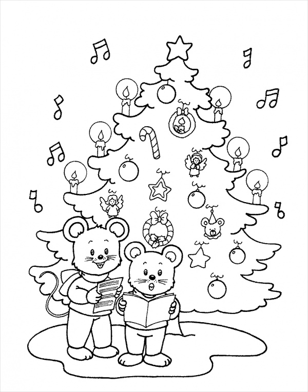 Free 15 Printable Christmas Coloring Pages In Ai Pdf Ms Word