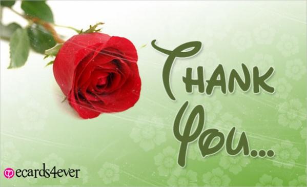 Free Love Thank You Ecard