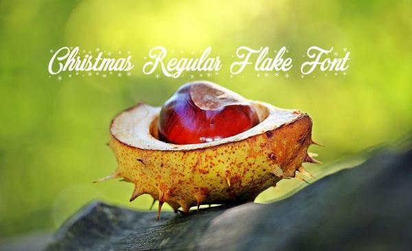 Free Merry Christmas Regular Flake Font