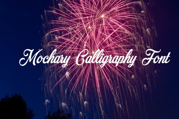 Free Mochary Calligraphy Font