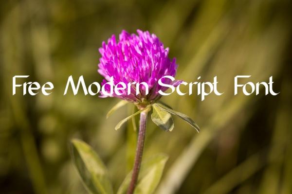 Free Modern Script Font