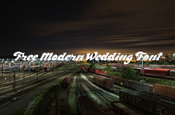 Free Modern Wedding Font