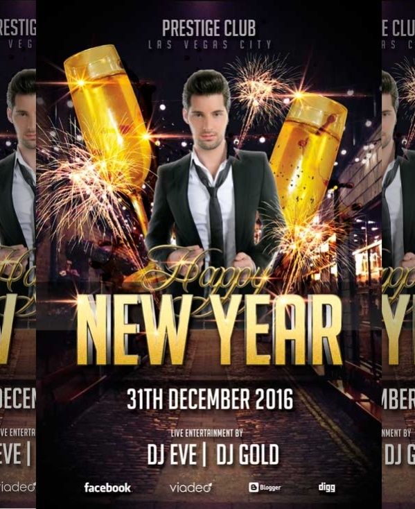 Free New Year Flyer Template