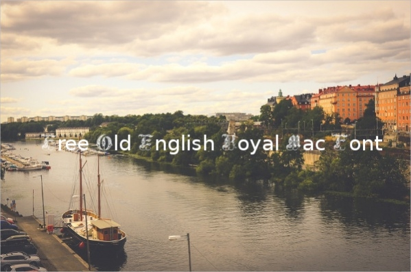 free old english royal mac font