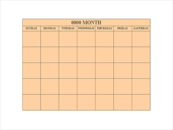 Free Old paper Blank Calendar