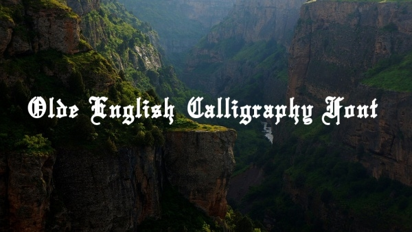 Free Olde English Calligraphy Font