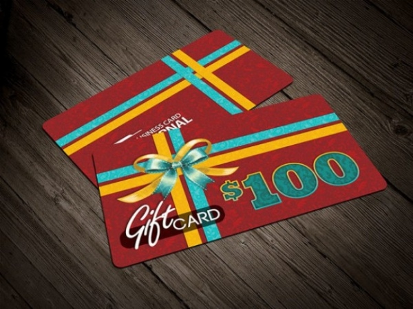 Free PSD Gift Card Template