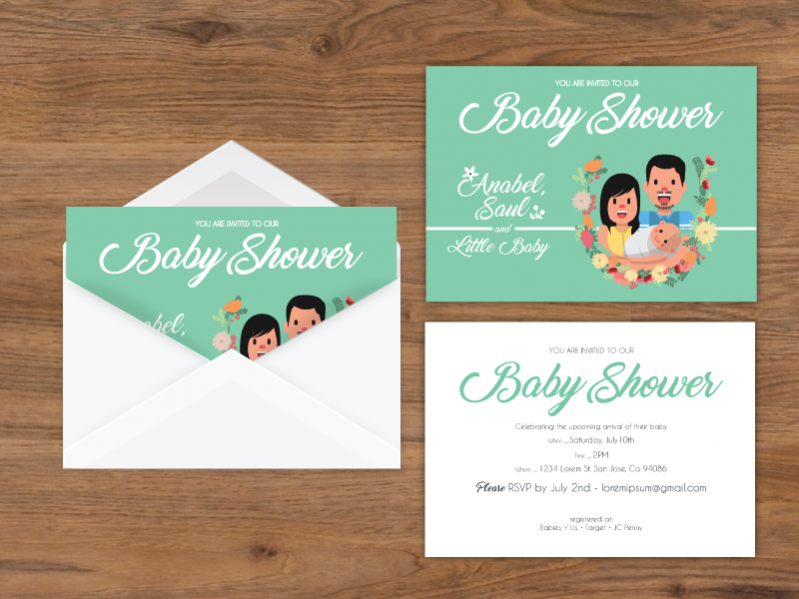 Free Post Card Baby Shower Invitation