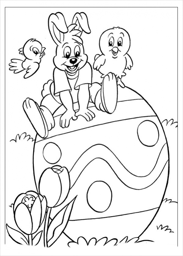 Free Preschool Easter Coloring Page