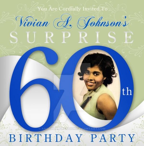 Free Printable 60th Birthday Invitation