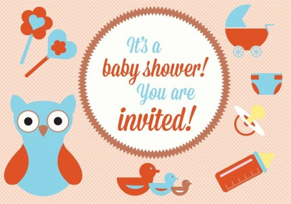 Free Printable Baby Shower Elements Invitation