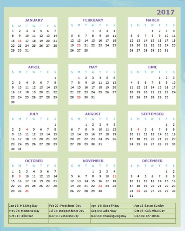 Free Printable Calendar Design