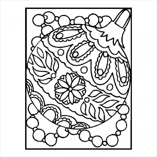 Colouring in christmas pdf templates