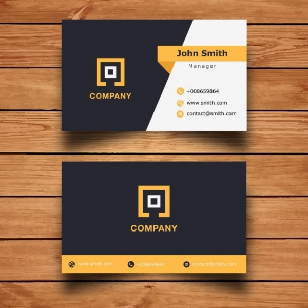 Free Printable Corporate Business Card