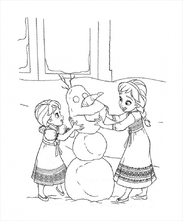 free printable frozen coloring page