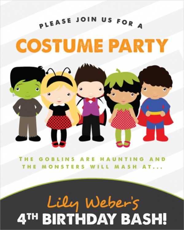 Free Printable Halloween Birthday Invitation