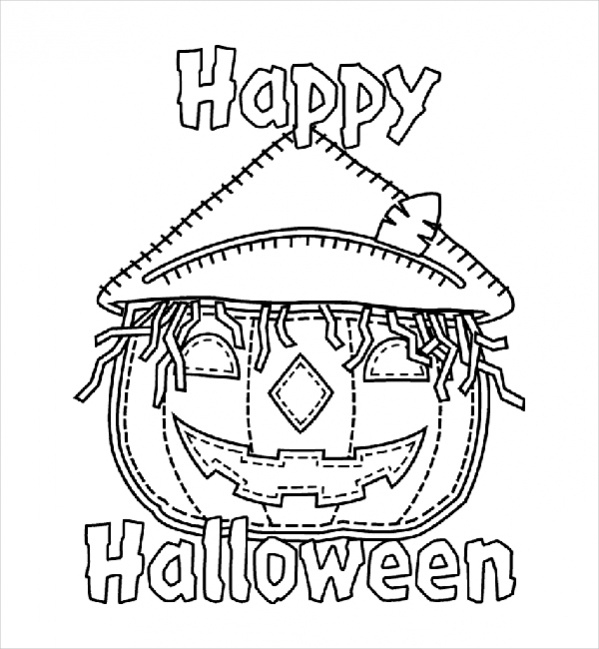 Happy Halloween Coloring Pages Medium Size Of Happy Coloring ... | 649x599