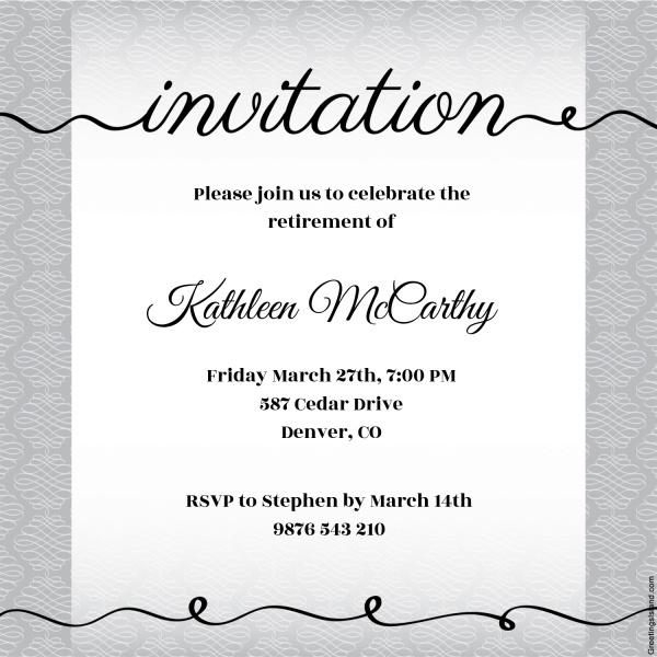 Free Printable Invitation Design