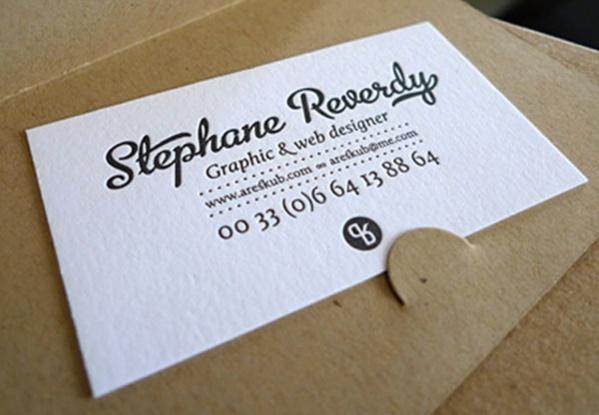 Free Printable Letterpress Business Card