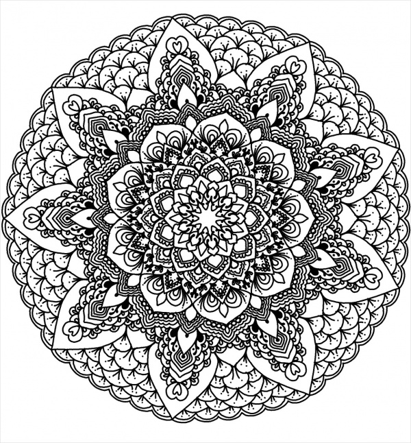 free printable coloring pages mandala designs | 15+ Free Mandala Coloring Pages - JPG, AI Illustrator Download