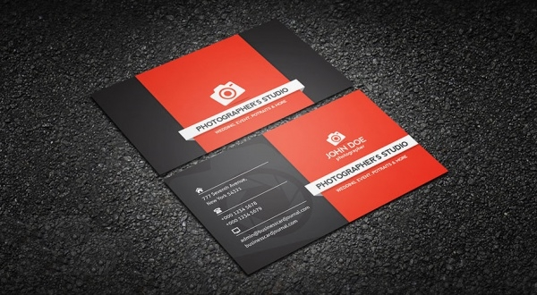 Free Printable Photography Business Card