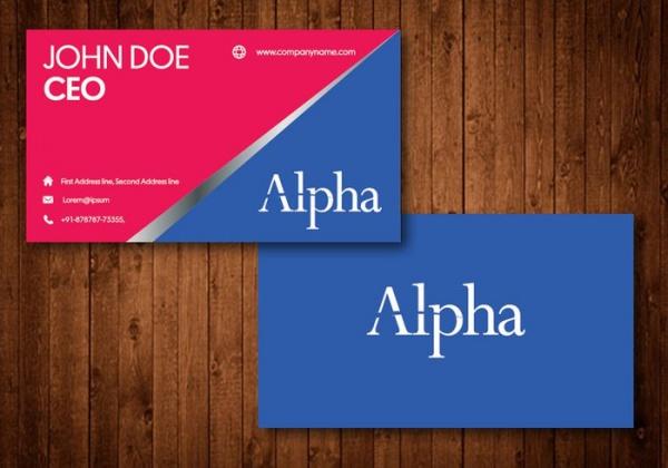 Free Printable Photoshop Business Card