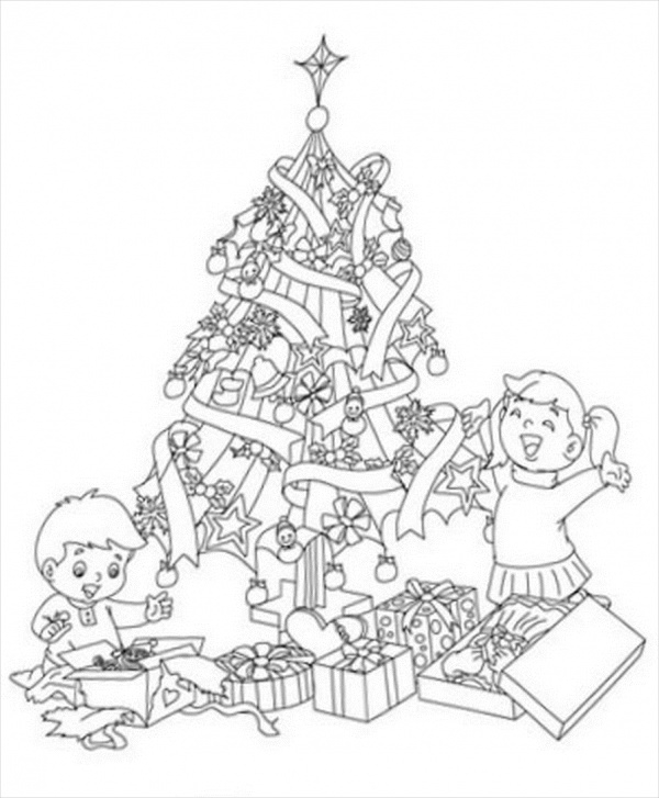 Free Printable Preschool Christmas Coloring Page