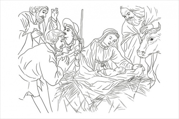 Nativity Coloring Pages | Nativity coloring pages, Nativity ... | 399x599