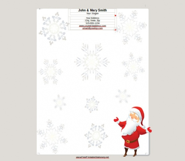 Free Printable Santa Border