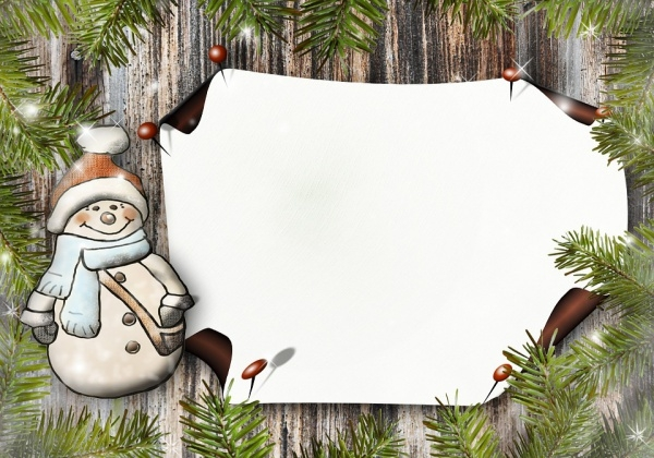 Free Printable Snowman Coloring Card