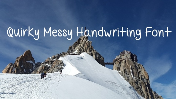 Free Quirky Messy Handwriting Font