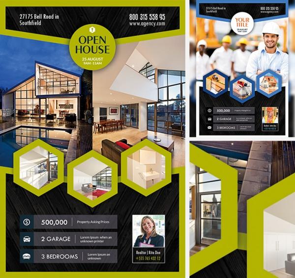 Free Real Estate Leaflet Flyer Design