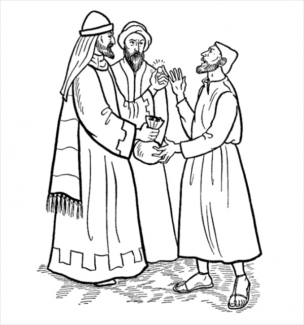 Free Religious Easter Coloring Page