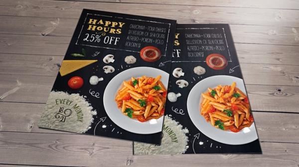 Free Restaurant Leaflet Design