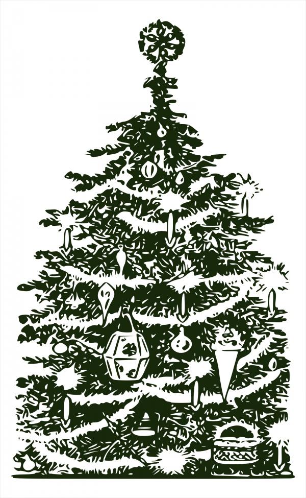 Free Retro Christmas Clip Art