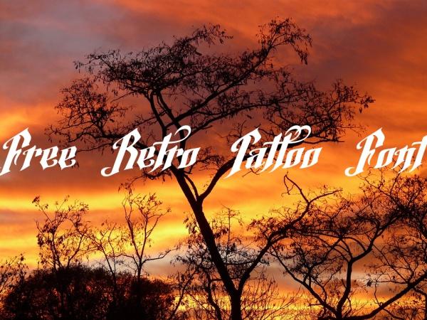 Free Retro Tattoo Font