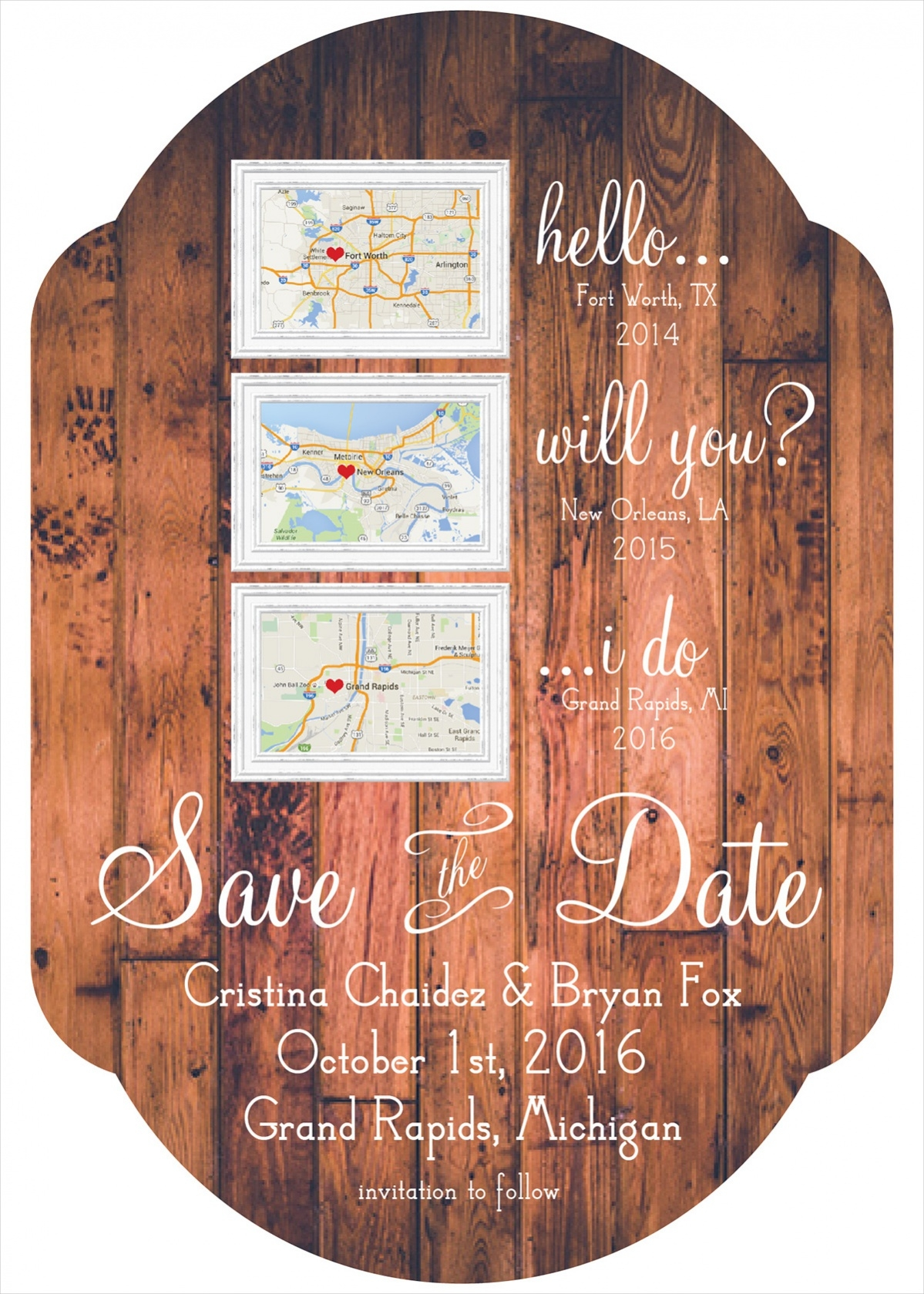 Free Rustic Save The Date Template