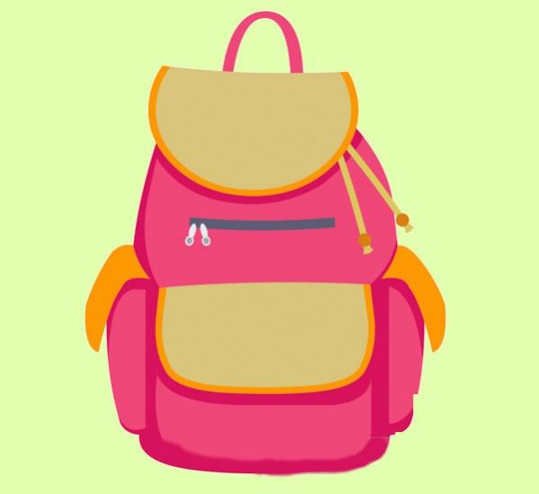 free school bag clipart