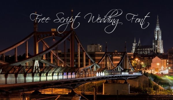Free Script Wedding Font
