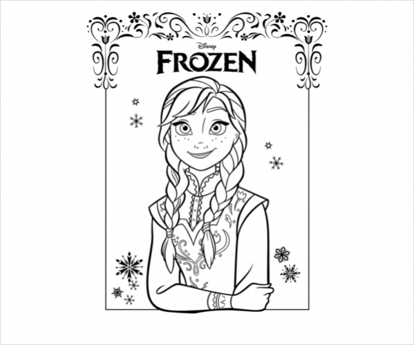 Free Simple Frozen Coloring Page