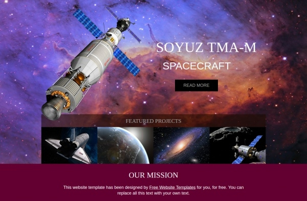 Free Simple Space Website Template
